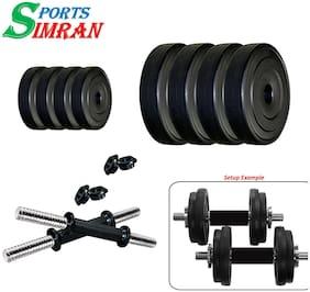 Simran Sports Home Gym PVC 8 KG Dumbbell Set