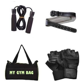 SIXON SPORTS Home Gym Accessories Gym Bag With Foam Skipping Rope,Gym Belt And Gym Gloves