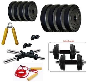 Sixon SportsPVC 16 kg Dumbbell Set And Accessories