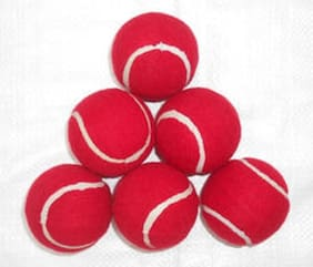 Sixon Sports cricket tennis balls Tennis Ball  (Pack of 4, Red)