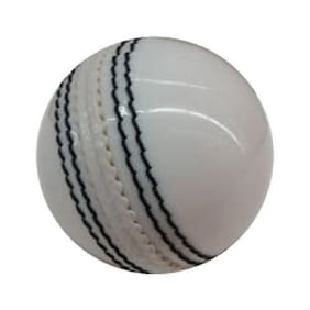 Sixon Sports Cricket Leather Ball (Pack of 1, White)