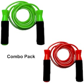 Kidsgyor Skipping Rope for Men Women with Non Slip Handle for Exercise Gym Training & workout Tool for Adults & Kids Ball Bearing Combo Pack PVC jump rope