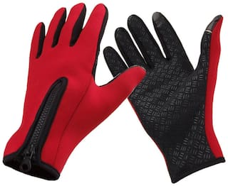 Snowboard Skiing Riding Cycling Bike Sports Gloves Outdoor Windproof Winter Thermal Warm Touch Screen Silicone Palm Unisex