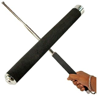 SNR Self Defence Tactical Rod (Heavy Metal and Extendable),1 Travel Bag Ideal for Strolling, Walking Dog and Camping pack of 2
