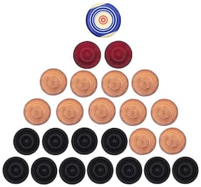 Solutions 24x7 Carrom Coins and striker