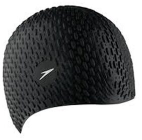 SOLUTIONS24X7 BEST QUALITY SWIMMING SILICONE BUBBLE CAP (BLACK)