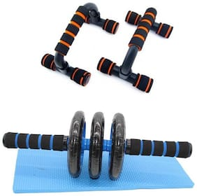 solutions24x7 home gym kit I pack of two I push up bar and ab roller