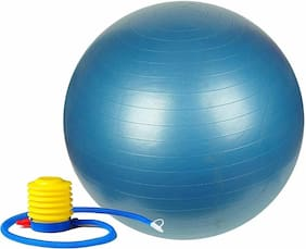 solutions24x7 gym ball 75cm for full  body workout (Multicolor) Gym Ball  (With Pump)