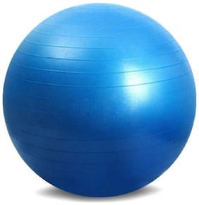 solutions24x7 Total Body Exercise Workout Anti Burst Gym Ball 75cm (blue With Pump)