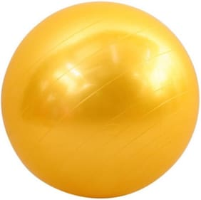 solutions24x7 Multi-use Indoor Fitness Training Yoga Yellow Gym Ball(with pump) Gym Ball  (With Pump)