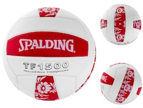 Spalding TF1500 Micro fiber Composite   Volleyball Red White