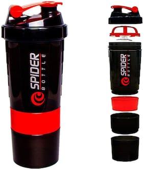 Spider Bottle Spider 3in 1 Protein Milk Plastic Shaker.500ml