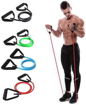 SPORTO FITNESS Resistance Toning Tube with Additional Door Anchor