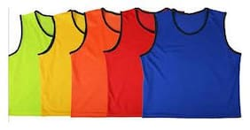 Sports Bibs Pinnies Scrimmage Vest For Soccer Cricket Track & Field Teams Blue One Size  In Pack Of 6 By CW
