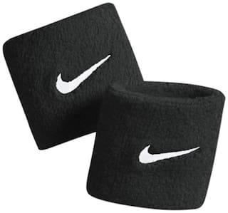 Sports Combo of 2 Black Wristband with Dri-Fit fabric