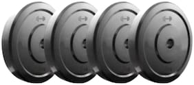 SPORTS SOLUTIONS HOME GYM FITNESS DUMBBELL PLATES 2.5KG EACH 4 PLATES