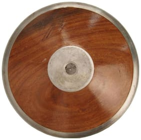 Sports Solutions DISCUSS THROW - 1KG Wooden Discus Throw Disc  1kg