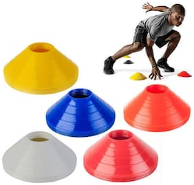 Sports solutions Unlimited Potential Soccer Cones - Agility Cone Set - Disc Cones - Field Markers - Saucer Cones - Soccer - Lacrosse - Basketball - Baseball