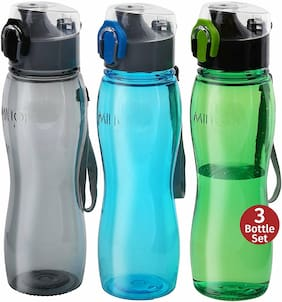 Sports Water Bottle -Flip Top One-Click Open 25 Oz 3-pack For Cycling Hiking Gym