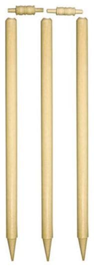 St Gold Cricket Wooden Stumps Pack Of 6