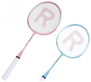st gold kids racket Blue Unstrung Badminton Racquet  (S3 - Small, 100 g)