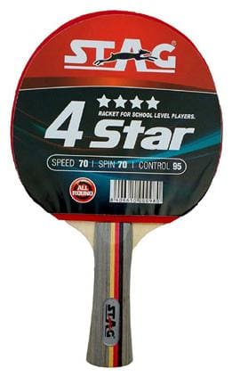 STAG 4 STAR TABLE TENNIS MULTICOLOR RACKET