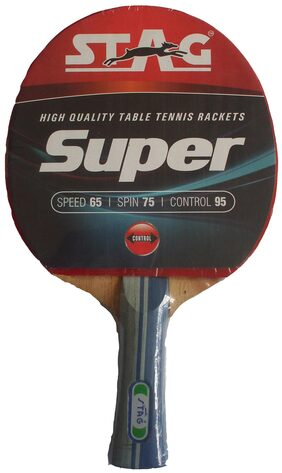 Stag Super Table Tennis Racquet-Black And Red