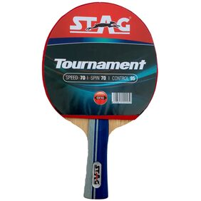 Stag Tounament Table Tennis Racquet-Black And Red
