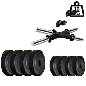 STAR X 4KG Home Gym Exercise Set Of PVC Plates With 1 Pair Dumbbell Rods
