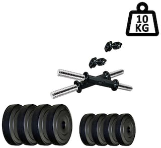 STAR X 8KG Home Gym Exercise Set Of PVC Plates With 1 Pair Dumbbell Rods