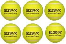 Star-X Light Weight Cricket Tennis Ball, Pack of 6
