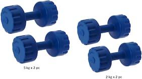 STAR X PVC Dumbbells Set of 5kg and 2 kg