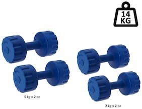 STAR X PVC Dumbbells Set of 5kg and 2 kg