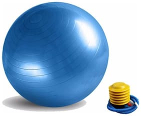 statusbright  Fitness Exercise Fit Yoga Core Multi-use Indoor Fitness Training Gym Ball  (With Pump)