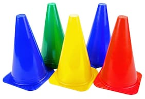 """Sterling high quality 5 marker cones size 9 """" for cricket tracks and other sports"""