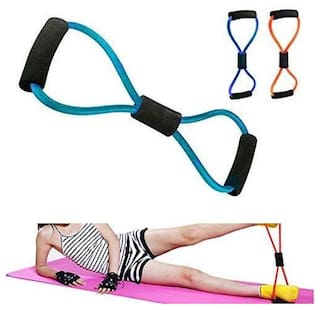 Sterling Resistance Bands Stretch Rope - 8 Shaped Elastic Tension Rope Chest Expander Yoga Pilates Sport Fitness Belt Body Shape Health Care workout band (1Pc) Multicolor