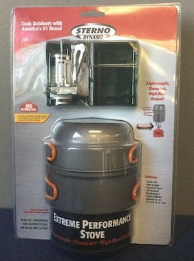Sterno Outdoor Survival Portable Dynamo Butane Camp Cooking Stove Kit