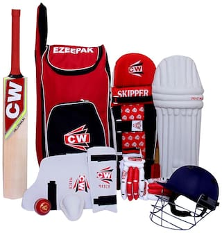 Storm Red Junior Complete Small Boys Cricket Match With Kashmir Willow Bat Kit Set  Size 3 Ideal For 5-6 Yr Kids