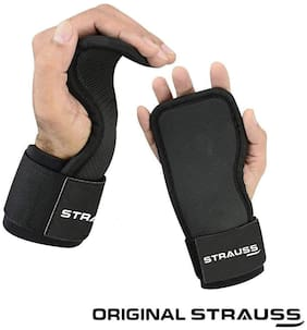 Strauss Adjustable Weightlifting Strap with Palm Pads, Pair (Black)