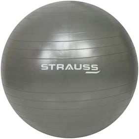 Strauss Anti-Burst Gym Ball, 55 CM, (Grey)