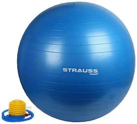 Strauss Anti-Burst Gym Ball with Foot Pump, 85 CM (Blue)