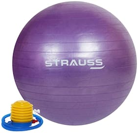 Strauss Anti-Burst Gym Ball, 55 CM, (Purple)