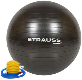 Strauss Anti-Burst Gym Ball, 55 CM, (Black)