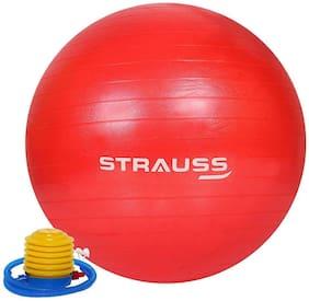 Strauss Anti-Burst Gym Ball, 65 CM, (Red)