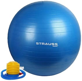 Strauss Anti Burst Gym Ball with Foot Pump, 65 CM