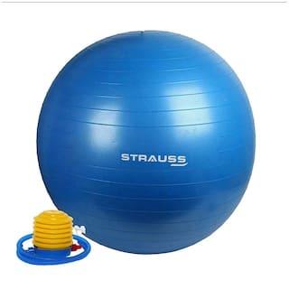 Strauss Anti Burst Gym Ball with Foot Pump, 75 CM