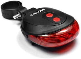 Strauss Bicycle Flash Tail Light with Laser, (Black)