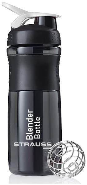 Strauss Blender Shaker Bottle 760ml, (Black)