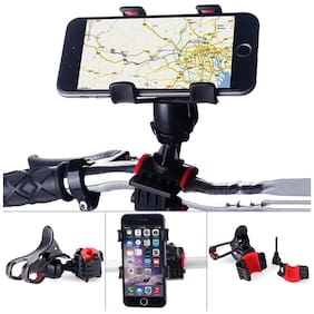 Strauss Cycle Mobile Phone Holder With Mount Bracket, (Black)