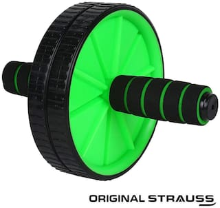 Strauss Double Exercise Wheel(Green)